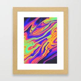 EYES ON FIRE Framed Art Print
