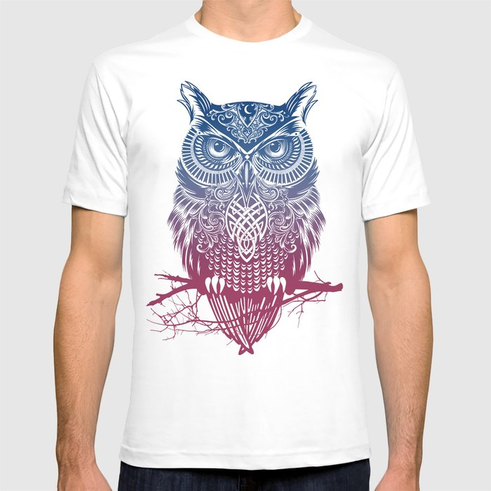 Evening Warrior Owl T-shirt
