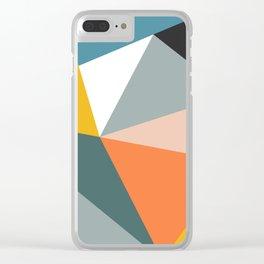 Modern Geometric 33 Clear iPhone Case