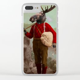 Lumberjack Marvin Moose Clear iPhone Case