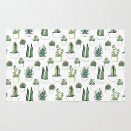 Watercolour Cacti & Succulents Rug