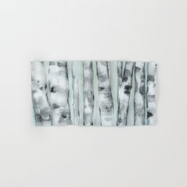 Birch trees in winter Hand & Bath Towel