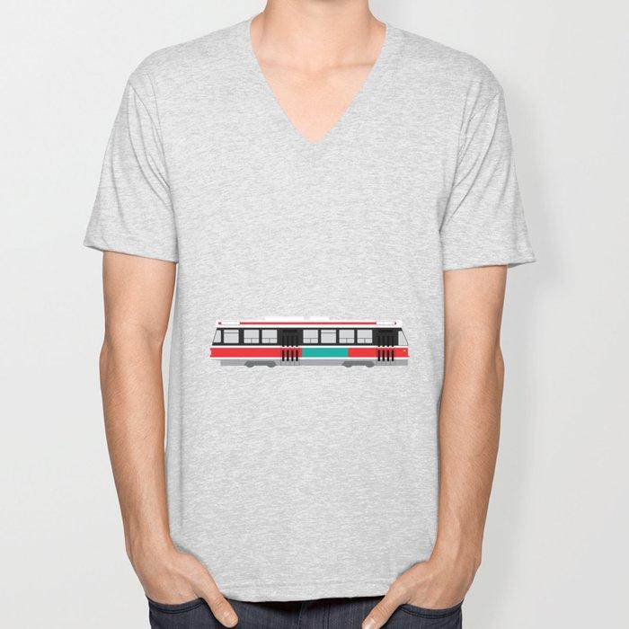 Toronto TTC Streetcar Unisex V-Neck