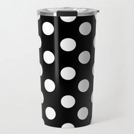 Polka Dot (White & Black Pattern) Travel Mug