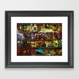 The Fantastic Voyage - a Steampunk Book Shelf Framed Art Print