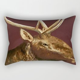 Big Bull Elk Profile Rectangular Pillow