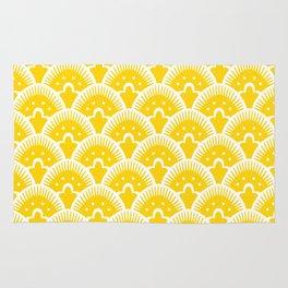 Fan Pattern Yellow 201 Rug