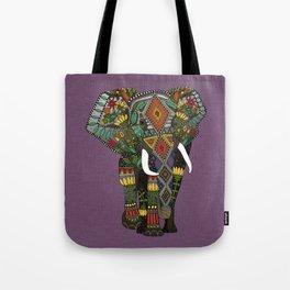 floral elephant violet Tote Bag
