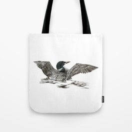 Morning Stretch - Common Loon Tote Bag