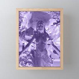 UV Statue Framed Mini Art Print