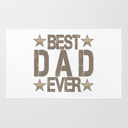 Best Dad Ever Father's Day Gift Rug