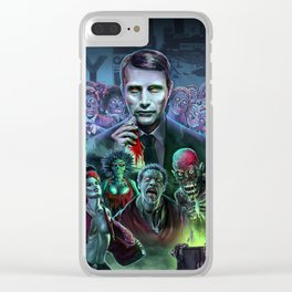 Hannibal Holocaust - They Live Return of the Living Dead Mads Mikkelsen Clear iPhone Case