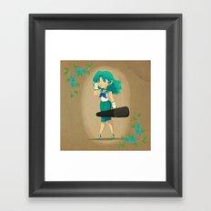 Retro Sailor Neptune Framed Art Print