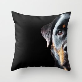 Rottie Love - Rottweiler Art By Sharon Cummings Throw Pillow