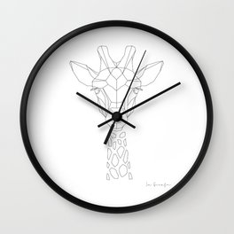 La Girafe Wall Clock