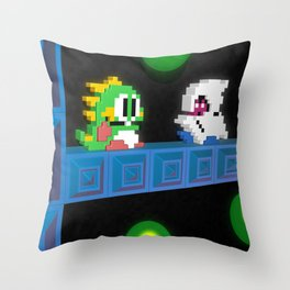 Inside Bubble Bobble Throw Pillow