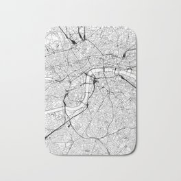London White Map Bath Mat