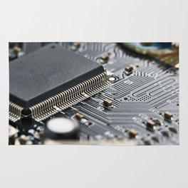 Elements of electronic circuit board Rug