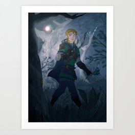Link with Fairy Art Print