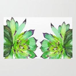 green succulent 2 Rug