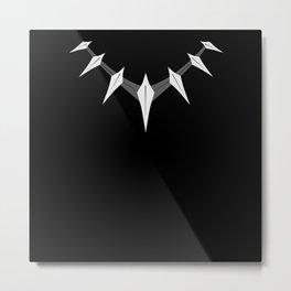 Black panther necklace Metal Print