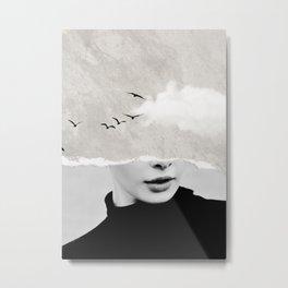 minimal collage /silence Metal Print