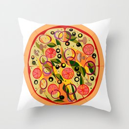 A Veggie Pizza, my Favorite Throw Pillow