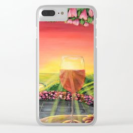 Wine Time in the Fergusson Clear iPhone Case