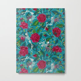 Death of Summer (carmine and blue) Metal Print