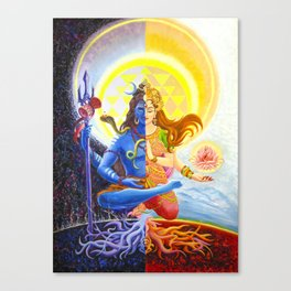 Shiva and Shakti Canvas Print
