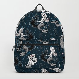 Pearla the Mermaid Riding on a Seahorse Backpack