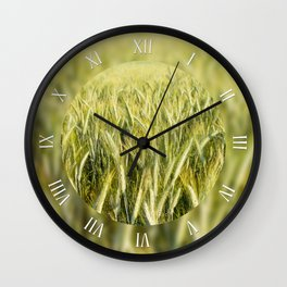 Spring green cereal plants Wall Clock