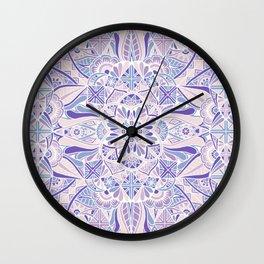 Pastel Purple Inverted Mandala Wall Clock