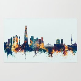 Seoul Skyline South Korea Rug