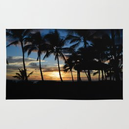 Hawaii Sunset Photo Rug