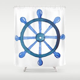 Navigating the seas Shower Curtain