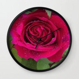 Graceful Rose Wall Clock