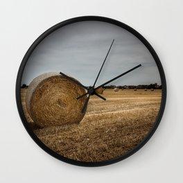 Bales of hay Wall Clock