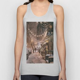 Snow - New York City - East Village Unisex Tank Top
