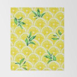 Zesty - lemonade Throw Blanket
