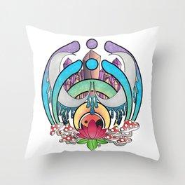 Trippy Nectar Throw Pillow