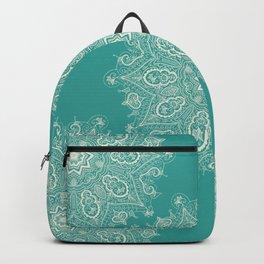 Teal and Lace Mandala Backpack