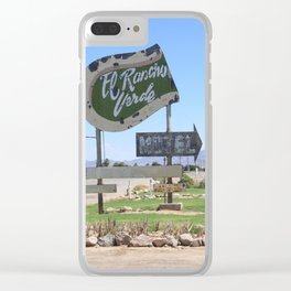 Middle of nowhere motel Clear iPhone Case