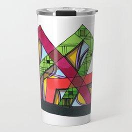 Synagogue Serendipity Geometric Architecture 76 Travel Mug