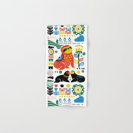 Scandinavian Sloths Hand & Bath Towel