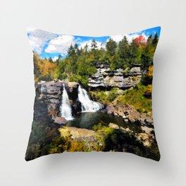 Blackwater Falls, West Virginia Throw Pillow