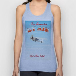 See America! by air - Book a plane today. Unisex Tank Top
