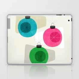 Retro Holiday Baubles Laptop & iPad Skin
