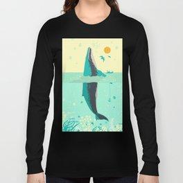 VINTAGE WHALE Long Sleeve T-shirt