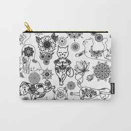 tattooed cats doing yoga Carry-All Pouch